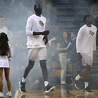 ORLANDO, FL - NOVEMBER 15: Tacko Fall #24 of the UCF Knights enters the court during a NCAA basketball game against the Gardner-Webb Runnin Bulldogs at the CFE Arena on November 15, 2017 in Orlando, Florida. (Photo by Alex Menendez/Getty Images) *** Local Caption *** Tacko Fall