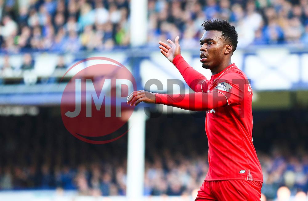Daniel Sturridge of Liverpool looks dejected - Mandatory byline: Matt McNulty/JMP - 07966 386802 - 04/10/2015 - FOOTBALL - Goodison Park - Liverpool, England - Everton  v Liverpool - Barclays Premier League