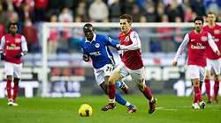 03.12.2011, DW Stadium, Wigan, ENG, Premier League, Wigan Athletic vs FC Arsenal, 14. Spieltag, im Bild Arsenal's Aaron Ramsey in action against Wigan Athletic's Mohamed Diame // during the football match of english Premier League, 14th round between Wigan Athletic an FC Arsenal at DW Stadium, Wigan, ENG on 2011/12/03. EXPA Pictures © 2011, PhotoCredit: EXPA/ Sportida/ David Rawcliff..***** ATTENTION - OUT OF ENG, GBR, UK *****