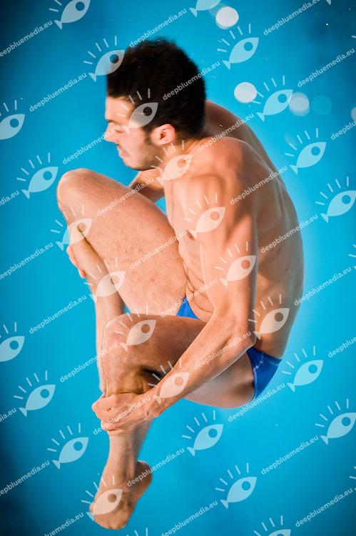 Tommaso Rinaldi (ITA) .Springboard 1m M - preliminaries.Eindhoven (Netherlands), 16/05/2012, Pieter Van Den Hoogenband Swiming Stadium.Diving Tuffi  .Foto Insidefoto Giorgio Perottino