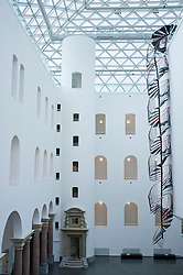 interior of K21 Kunstsammlung art museum in Düsseldorf in Germany