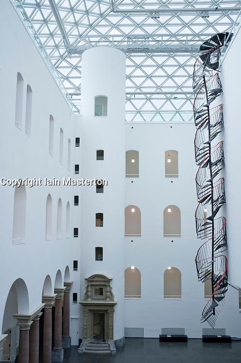 interior of K21 Kunstsammlung art museum in Düsseldorf in Germany