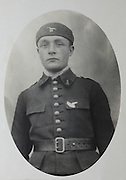vintage studio portrait of soldier in uniform