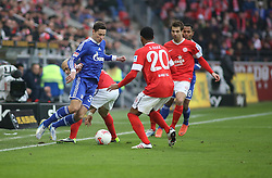 16.02.2013, Coface Arena, Mainz, GER, 1. FBL, 1. FSV Mainz 05 vs FC Schalke 04, 22. Runde, im Bild v.l.: Julian Draxler (S04) gegen Junior Diaz (MZ) // during the German Bundesliga 22th round match between 1. FSV Mainz 05 and FC Schalke 04 at the Coface Arena, Mainz, Germany on 2013/02/16. EXPA Pictures © 2013, PhotoCredit: EXPA/ Eibner/ Matthias Neu ***** ATTENTION - OUT OF GER *****