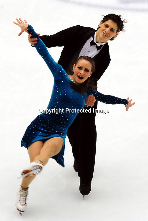 Dec 10, 2010; Beijing, CHINA; Meryl Davis and Charlie White of USA skate in the Ice Dance Short Dance during ISU Grand Prix and Junior Grand Prix Final at Beijing Capital Gymnasium.
