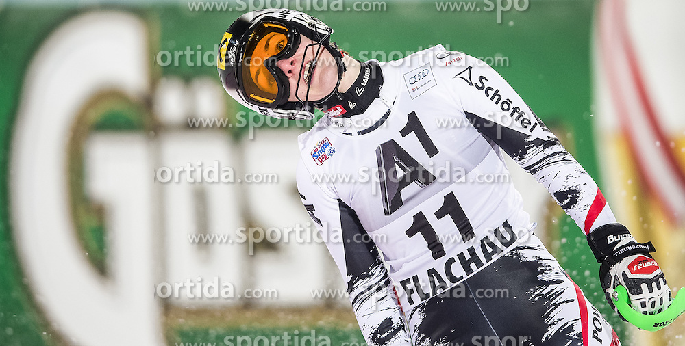14.01.2014, Hermann Maier Weltcupstrecke, Flachau, AUT, FIS Weltcup Ski Alpin, Slalom, Damen, 2. Durchgang, im Bild Kathrin Zettel (AUT) // Kathrin Zettel of Austria reacts in the finish area after her 2nd run of the ladies Slalom of the FIS Ski Alpine World Cup at the Hermann Maier World Cup course in Flachau, Austria on 2014/01/14. EXPA Pictures © 2013, PhotoCredit: EXPA/ Johann Groder