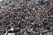 (CHINA OUT) <br /> <br /> Damaged cars are seen stacked at a scrapyard on March 19, 2015 in Hangzhou, Zhejiang Province of China. China has a comprehensive evaluation index system to measure the development of its circular economy, and according to the National Bureau of Statics (NBS), the key index increased to 137.6 between 2005 to 2013.<br /> ©Exclusivepix media