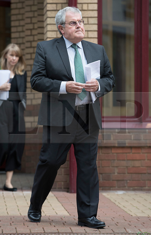 "© Licensed to London News Pictures. 03/06/2016. Woking, UK.Des James leaves Woking Coroner's Court. A second inquest into the death of army recruit Private Cheryl James has announced its verdict today. Coroner Brian Barker QC has ruled the death of Private James was caused by a ""self-inflicted"" wound. Cheryl was found dead with a bullet wound to her head in November 1995.  Aged just 18 she was one of four young soldiers who died at the Deepcut Barracks in Surrey between 1995 and 2002, amid claims of bullying and abuse. Photo credit: Peter Macdiarmid/LNP"