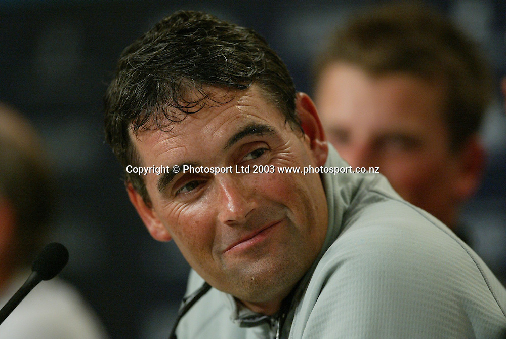 2 March 2003, Americas Cup Final, Post Press Conference, Viaduct Harbour, Auckland, New Zealand.<br />