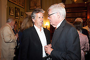 BLAKE MORRISON; ALEXANDER CHANCELLOR, David Campbell and Knopf host the 20th Anniversary of the revival of Everyman's Library. Spencer House. St. James's Place. London. 7 July 2011. <br /> <br />  , -DO NOT ARCHIVE-© Copyright Photograph by Dafydd Jones. 248 Clapham Rd. London SW9 0PZ. Tel 0207 820 0771. www.dafjones.com.
