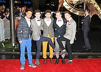 Josh Zare; Joe 'Connor' Conaboy; JJ Thompson; Matt Cahill; Jay Scott; X Factor's 'Kingsland Road, The Hunger Games: Catching Fire - World film premiere, Leicester Square, London UK, 11 November 2013, Photo by Richard Goldschmidt