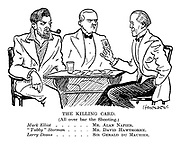"The Killing Card. (All over bar the shooting). Mark Elliot ... Mr Alan Napier; ""Tubby"" Storman ... Mr David Hawthorn; Larry Deans ... Sir Gerald du Maurier."
