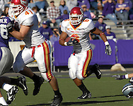 Iowa State running back Jason Scales (6) rushes up field against Kansas State at Bill Snyder Family Stadium in Manhattan, Kansas, October 28, 2006.  The Wildcats beat the Cyclones 31-10.<br />