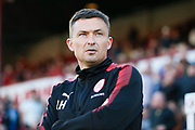Barnsley  Manager Paul Heckingbottom  during the EFL Sky Bet Championship match between Barnsley and Nottingham Forest at Oakwell, Barnsley, England on 15 August 2017. Photo by Simon Davies.