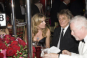 PENNY LANCASTER, ROD STEWART AND JIM FREIDLAND, Cartier Dinner to celebrate the re-opening of the Cartier U.K. flagship store, New Bond St. Natural History Museum. 17 October 2007. -DO NOT ARCHIVE-© Copyright Photograph by Dafydd Jones. 248 Clapham Rd. London SW9 0PZ. Tel 0207 820 0771. www.dafjones.com.
