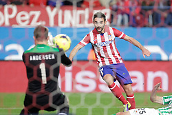 27.10.2013, Estadio Vicente Calderon, Madrid, ESP, Primera Division, Atletico Madrid vs Real Betis, 10. Runde, im Bild Atletico de Madrid's Adrian (R) // Atletico de Madrid's Adrian (R) during the Spanish Primera Division 10th round match between Club Atletico de Madrid and Real Betis at the Estadio Vicente Calderon in Madrid, Spain on 2013/10/28. EXPA Pictures © 2013, PhotoCredit: EXPA/ Alterphotos/ Victor Blanco<br /> <br /> *****ATTENTION - OUT of ESP, SUI*****