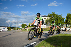 Doris Schweizer (Cylance Pro Cycling) leads the team into the final 500 metres of the 42,5 km team time trial of the UCI Women's World Tour's 2016 Crescent Vårgårda Team Time Trial on August 19, 2016 in Vårgårda, Sweden. (Photo by Sean Robinson/Velofocus)