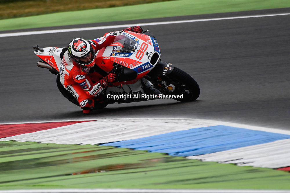 June 24th 2017, TT Circuit, Assen, Netherlands; MotoGP Grand Prix TT Assen, Qualifying Day; Jorge Lorenzo (Ducati) during the qualifying sessions