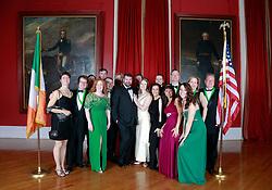 08 November 2014. New Orleans, Louisiana. <br />  2014 International Irish Famine Commemoration, Gallier Hall.<br /> Photo; Charlie Varley/varleypix.com