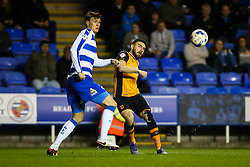 Robert Snodgrass of Hull City passes under pressure from Jake Cooper of Reading - Mandatory byline: Jason Brown/JMP - 07966 386802 - 19/04/2016 - FOOTBALL - Madejski Stadium - Reading, England - Reading v Hull City - Sky Bet Championship