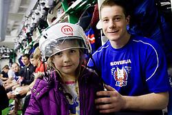 Jan Urbas of Slovenian Ice Hockey National team  at visit of children of kindergarten Mojca from Dravlje, Ljubljana during the IIHF World Championship Division 1 Group B tournament, on April 21, 2010, in Hala Tivoli, Ljubljana, Slovenia.  (Photo by Vid Ponikvar / Sportida)