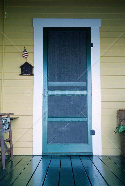 Front screen door and porch