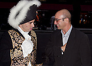 David Binerstein, a Paramount executive next to a Napoleon at The New York City premiere of The Emperor's New Clothes, a Paramount Classics film starring Ian Holm. Photo by Jonathan Barth/PictureGroup