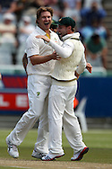 Shane Watson celebrates the wicket of Ashwell Prince during the 2nd day of the 1st test match between South Africa and Australia held at Sahara Park Newlands Stadium,Cape Town, South Africa on the 10th November 2011..Photo by Ron Gaunt/SPORTZPICS
