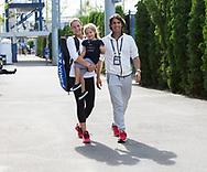 US OPEN FEATURE, <br />  TATJANA MARIA (GER)mit Ehemann/Trainer Charles Edouard Maria und Tochter Charlotte.<br /> Tennis - US Open 2017 - Grand Slam ITF / ATP / WTA -  Billie Jean King Tennis Center - New York - New York - USA  - 1 September 2017.