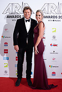 Richard Wilkins and Virginia Burmeister at The 2018 ARIA Awards at The Star in Sydney, Australia