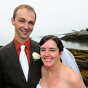 Sept 27, 2008 -- Southport, ME.  The wedding of Brett Amundsen and Aili Kos on Southport Island Maine Copyright Photo by  Roger S. Duncan.