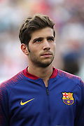 Sergi Roberto of FC Barcelona during the UEFA Champions League, Group B football match between FC Barcelona and PSV Eindhoven on September 18, 2018 at Camp Nou stadium in Barcelona, Spain - Photo Manuel Blondeau / AOP Press / ProSportsImages / DPPI