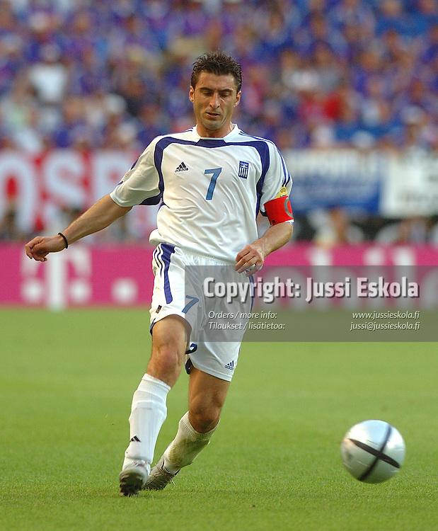 Theo Zagorakis, 25.6.2004.&amp;#xA;Euro 2004.&amp;#xA;Photo: Jussi Eskola<br />