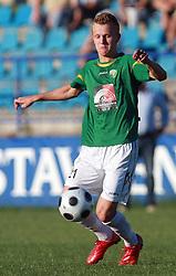 Nik Omladic (21) of Rudar at 6th Round of PrvaLiga Telekom Slovenije between NK Primorje Ajdovscina vs NK Rudar Velenje, on August 24, 2008, in Town stadium in Ajdovscina. Primorje won the match 3:1. (Photo by Vid Ponikvar / Sportal Images)