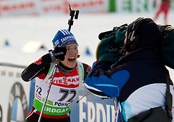 Kathrin Hitzer of Germany during the Women 7,5 km Sprint of the e.on IBU Biathlon World Cup on Saturday, December 18, 2010 in Pokljuka, Slovenia. The fourth e.on IBU World Cup stage is taking place in Rudno polje - Pokljuka, Slovenia until Sunday December 19, 2010. (Photo By Vid Ponikvar / Sportida.com)