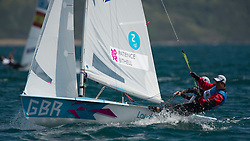 06.08.2012, Bucht von Weymouth, GBR, Olympia 2012, Segeln, im Bild Bithell Stuart, Patience Luke, (GBR, 470 Men) // during Sailing, at the 2012 Summer Olympics at Bay of Weymouth, United Kingdom on 2012/08/06. EXPA Pictures © 2012, PhotoCredit: EXPA/ Juerg Kaufmann ***** ATTENTION for AUT, CRO, GER, FIN, NOR, NED, POL, SLO and SWE ONLY!