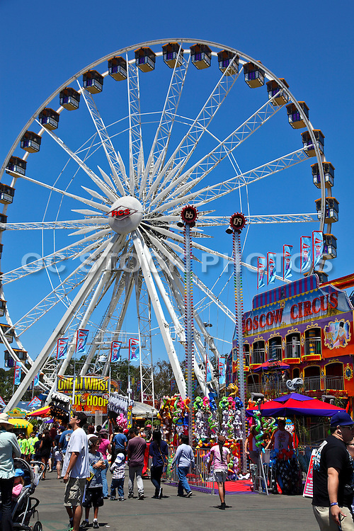 People Enjoying the OC Fair at Orange County Fairgrounds
