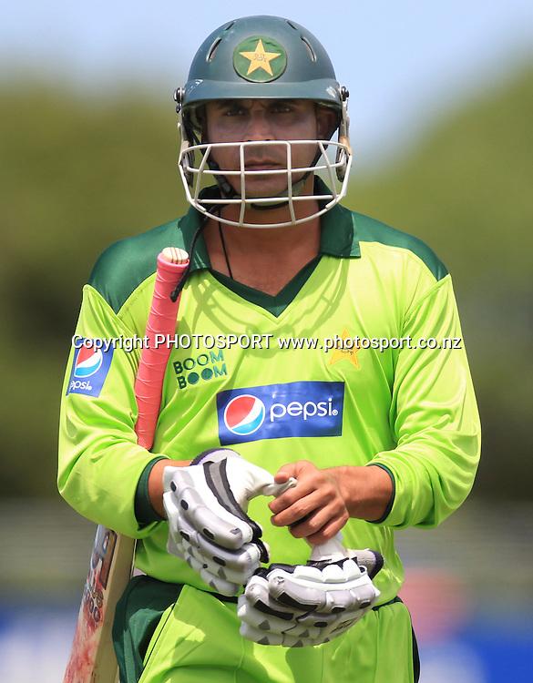 Abdur Rehman. Twenty20 Cricket, Auckland Aces v Pakistan, Colin Maiden Park, Auckland. Thursday 23 December 2010.Photo: Andrew Cornaga/photosport.co.nz