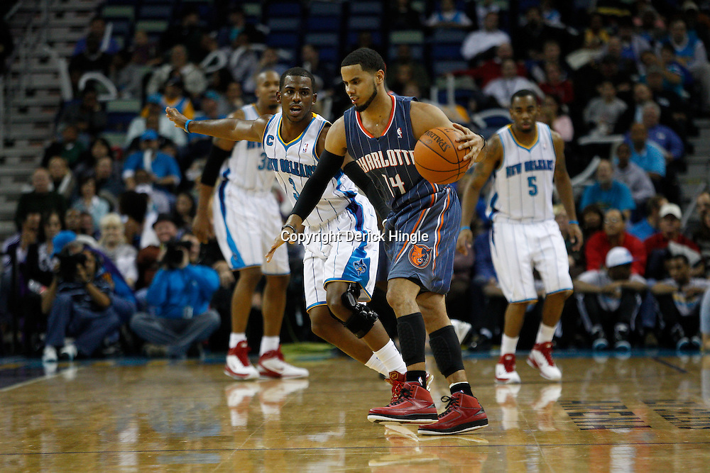 December 1, 2010; New Orleans, LA, USA; during the second half at the New Orleans Arena. The Hornets defeated the Bobcats 89-73. Mandatory Credit: Derick E. Hingle..