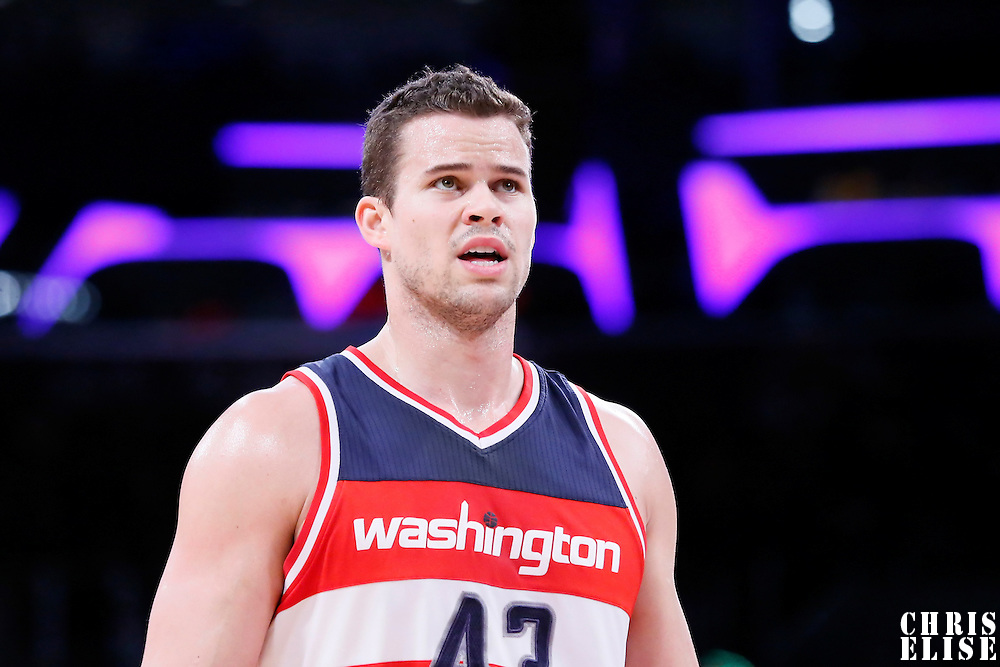 27 January 2015: Washington Wizards forward Kris Humphries (43) is seen during the Washington Wizards 98-92 victory over the Los Angeles Lakers, at the Staples Center, Los Angeles, California, USA.
