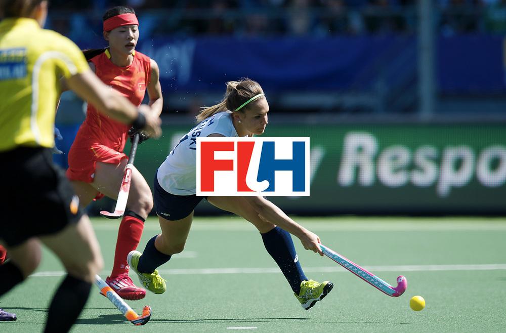 DEN HAAG - Rabobank Hockey World Cup<br /> 16 China - USA<br /> Foto: Paige Selenski.<br /> COPYRIGHT FRANK UIJLENBROEK FFU PRESS AGENCY