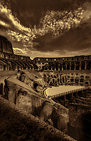 """A perfect evening overlooking the Colosseum - BW""…<br />