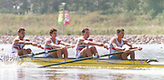 1988 Seoul. Korea GBR M4- Bow Mark BUCKINGHAM, Steve PEEL, Simon BERRISFORD and Pete MULKERRINS. 1988 Summer Olympic Games [Mandatory Credit - Guy Hebblewhite/Intersport Images] 1988 Seoul Olympic Games. South Korea