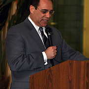 Guardian Building 80th Anniversary Party. Held on Thursday, March 26, 2009. Robert A Ficaro (County Executive of Wayne County) addressed the capacity room on the 32nd floor of the Guardian Building.
