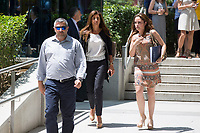 Marta Pineda, wife os Sandro Rosell goes to testify before the judge in the National Court for the crime of money laundering by Sandro Rosell, former president of Barcelona Football Club. in Madrid, Spain. May 25, 2017. (ALTERPHOTOS/Rodrigo Jimenez)