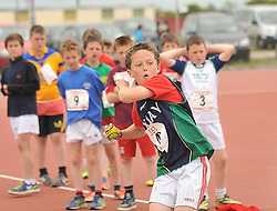Harry West from Quay Ballina was the winner of the Under 12 Ball Throw at the Mayo Commmunity Games finals in Claremorris.<br /> Pic Conor McKeown