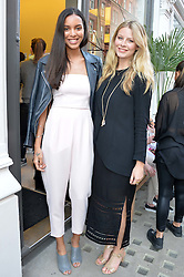 Singer-songwriter ARLISSA (RUPPERT) and CHLOE HAYWARD at the Prism Boutique Summer Party held at Prism, 54 Chiltern Street, London on 14th May 2014.