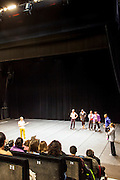 Dancers practicing in theater of National Choreographic centre, called The Pavillon Noir, in Aix-en-Provence, France, with Angelin Preljocaj.