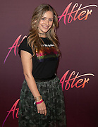 2019, April 15. Pathe ArenA, Amsterdam, the Netherlands. Sterre Koning at the dutch premiere of After.