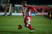 Adam Buxton (Accrington Stanley) during the Sky Bet League 2 match between Accrington Stanley and Hartlepool United at the Fraser Eagle Stadium, Accrington, England on 19 January 2016. Photo by Mark P Doherty.